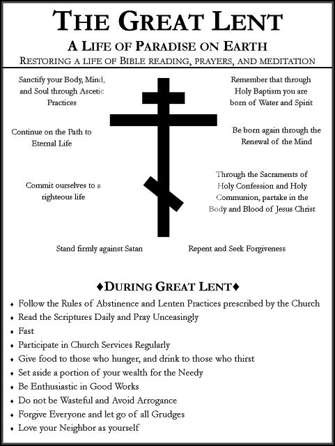 1Great Lent Poster