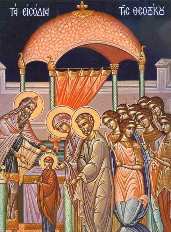 Entry of the Theotokos icon