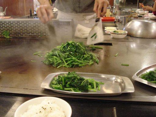 鐵板燒- 空心菜
