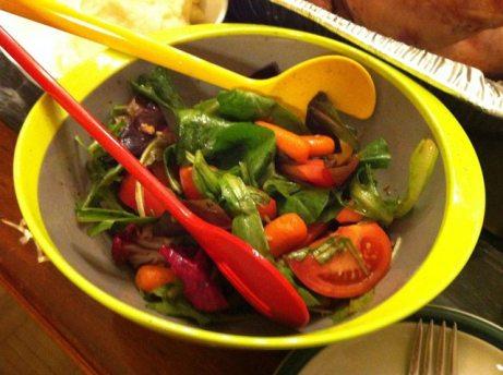 Salad with Balsamic Vinegar Dressing