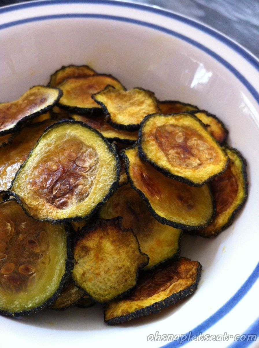 A Healthy Snack: Baked Zucchini Chips