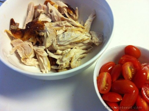 Chicken and Halved Cherry Tomatoes