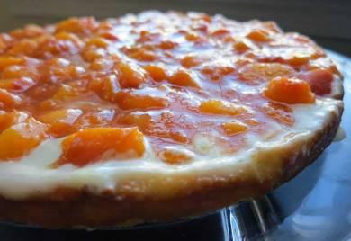paleo peach tart