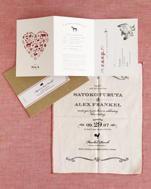 rustic red white wedding invitations 300x375 Rustic Ranch Wedding Invitations