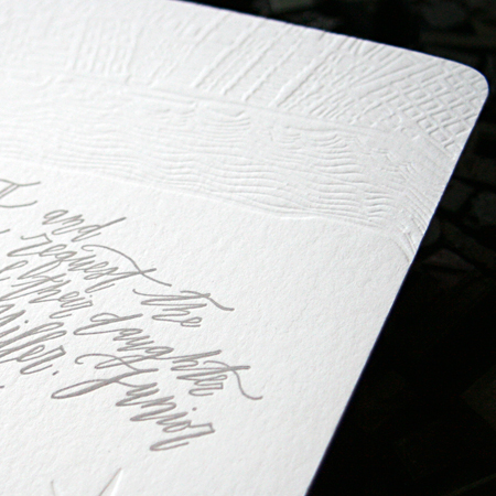 Betsy Dunlap Calligraphy Letterpress Wedding Invitations2 Riley + Roberts Modern Calligraphy Wedding Invitations