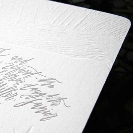 Betsy Dunlap Calligraphy Letterpress Wedding Invitations2 Riley + Roberts Modern Calligraphy Wedding Invitations
