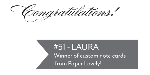 Giveaway Winner New Giveaway! Paper Lovely