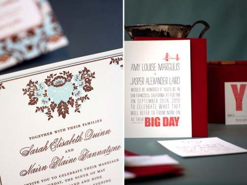 Hello Lucky Wedding Invitations1 500x375 New Giveaway! Letterpress Wedding Invitations or Save the Dates from Hello!Lucky