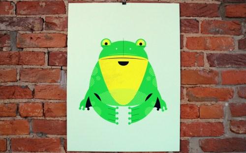 a modern eden frog poster 500x312 A Modern Eden Nursery Poster Series