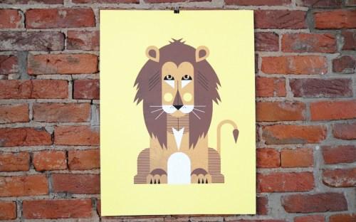 a modern eden lion poster 500x312 A Modern Eden Nursery Poster Series