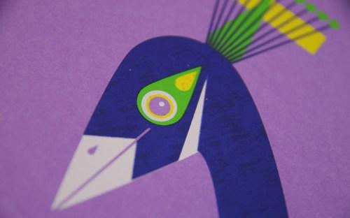 a modern eden peacock poster detail 500x312 A Modern Eden Nursery Poster Series