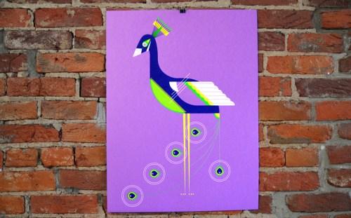 a modern eden peacock poster 500x311 A Modern Eden Nursery Poster Series