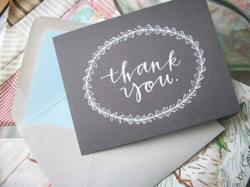 calligraphy thank you note 500x375 Calligraphy Address Stamps