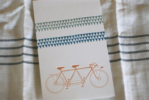satsuma press june geometric print bicycle 500x335 Geometric Summer Prints