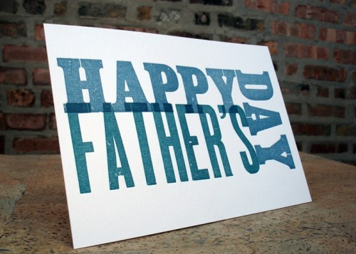 spring olive wood type fathers day 500x357 Seasonal Stationery: Fathers Day Cards