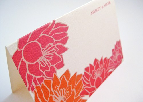 Tropical Floral Red Orange Thank You Cards 500x359 Invitations for a Surprise Wedding!