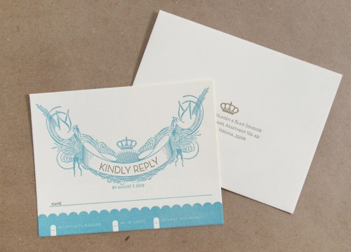 Vintage San Francisco Wedding Invitation RSVP1 500x359 Vintage Inspired San Francisco Wedding Invitations