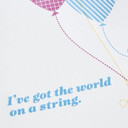 balloon letterpress art print2 500x500 The World on a String...