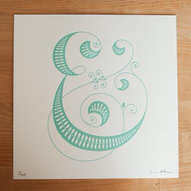 jessica hische letterpress ampersand Jessica Hische Letterpress Alphabet Prints