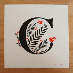 jessica hische letterpress c 300x300 Jessica Hische Letterpress Alphabet Prints