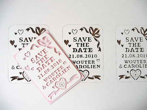 papercut save the date Papercut Wedding Invitations
