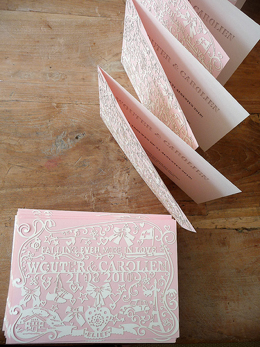 papercut wedding invitation2 Papercut Wedding Invitations