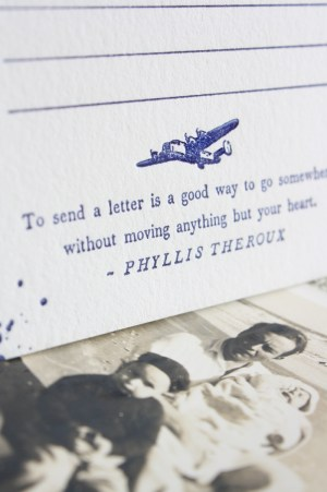 vintage travel airmail wedding invitation rsvp card 300x451 Vintage Airmail Inspired Wedding Invitations
