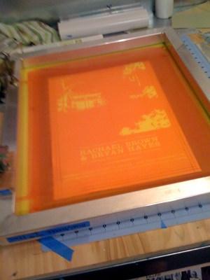 3settingupscreen1 300x400 The Printing Process: Screen Printing