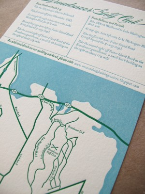 Aqua Emerald Wedding Invitations Map 300x400 Emerald + Aqua Wedding Invitations