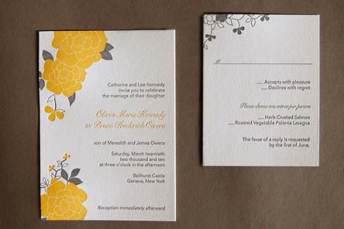 Pistachio Press Letterpress Wedding Invitations Bloom 500x333 Wedding Invitations   Pistachio Press