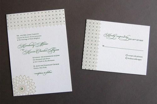 Pistachio Press Letterpress Wedding Invitations Botanical Lace 500x333 Wedding Invitations — Pistachio Press, Part2