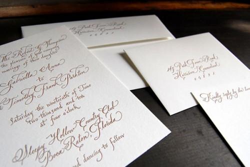 Pistachio Press Letterpress Wedding Invitations Calligraphy Emma 500x333 Wedding Invitations — Pistachio Press, Part2