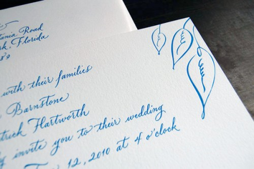 Pistachio Press Letterpress Wedding Invitations Calligraphy Jane2 500x333 Wedding Invitations — Pistachio Press, Part2