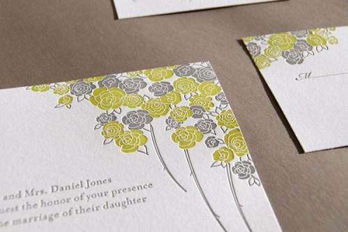 Pistachio Press Letterpress Wedding Invitations Summer Garden2 500x333 Wedding Invitations   Pistachio Press