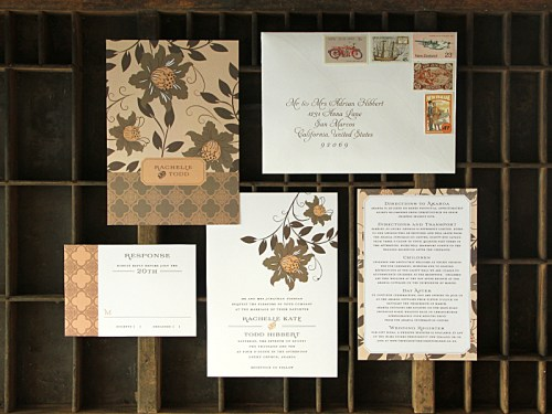 Rachelle Todd Garden Inspired Wedding Invitations 500x375 Rachelle + Todds Garden Inspired Wedding Invitations