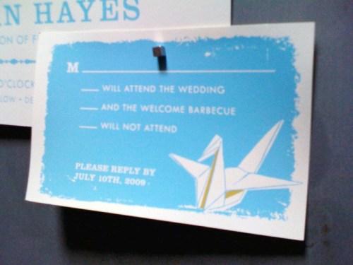 Two Trick Pony Screen Printed Wedding Invitation RSVP 500x375 The Printing Process: Screen Printing