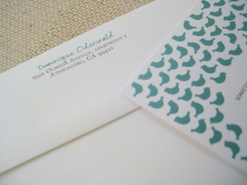 blue bird lingerie bridal shower invitation detail 500x375 Sweet Blue Birds Bridal Shower Invitations