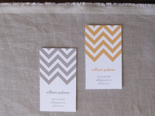 chevron stripe calling cards 500x375 Chevron Stripe Calling Cards