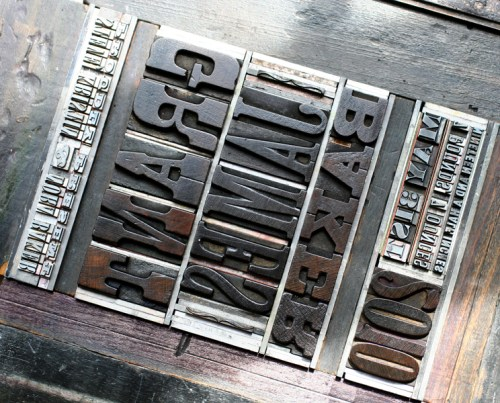 grant1a 500x403 The Printing Process: Letterpress Printing with Antique Type