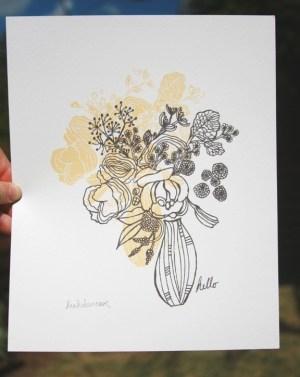 leah duncan flowers print 300x377 Paper Artwork   Leah Duncan