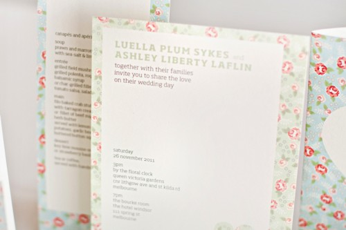mitchell dent english floral pattern wedding invitation enclosures2 500x333 Wedding Invitations   Mitchell + Dent