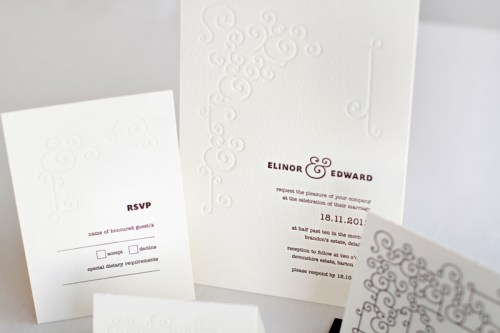 mitchell dent modern ampersand wedding invitation 500x333 Wedding Invitations   Mitchell + Dent