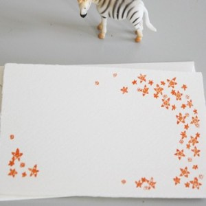 orange flowers linea carta 300x300 Sweet Note Cards