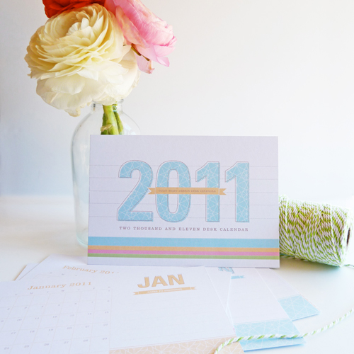 Dizzy Wizzy 2011 Desk Calendar2 2011 Calendar Round Up, Part 1