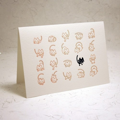 Halloween cats 1915press 500x500 Seasonal Stationery: Halloween Cards and Invitations