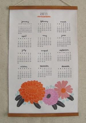Lisa Rupp 2011 Floral Fabric Calendar2 300x430 2011 Calendar Round Up, Part 1