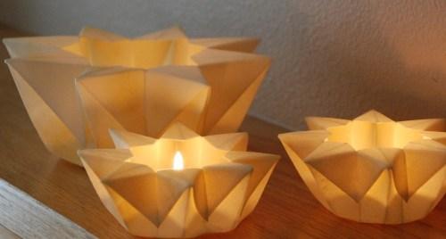 paper star lanterns 500x268 Pretty Paper Lanterns