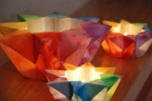 rainbow star paper lanterns 500x334 Pretty Paper Lanterns