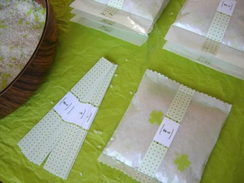 spring green wedding invitation rice bags 500x375 Valentina + Marcos Ireland Inspired Italian Wedding Invitations