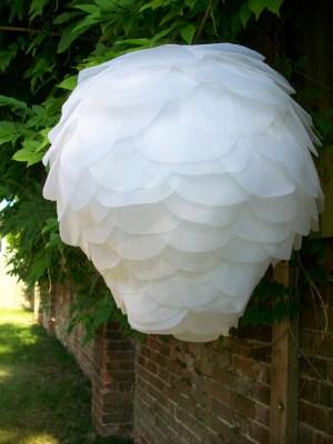 white paper petal lantern 300x400 Pretty Paper Lanterns